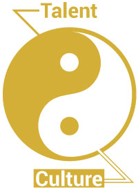 The yin yang symbol representing that culture lives within talent.