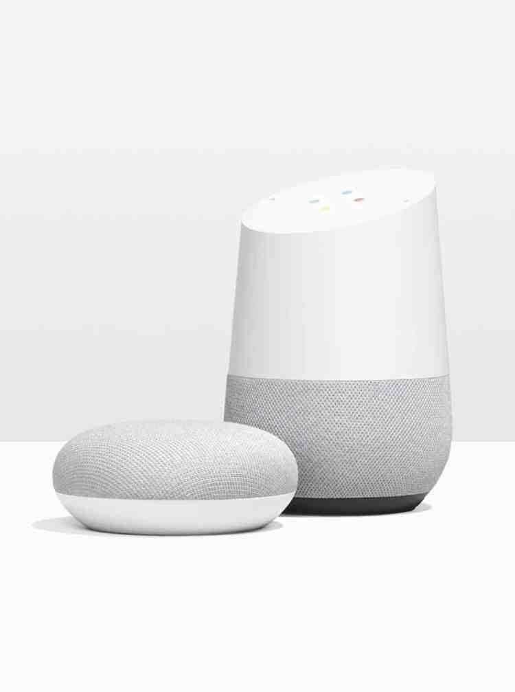 Google Home and Google Home Mini smart speakers
