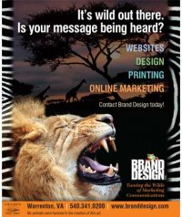 Brand Design, Inc. in Warrenton VA Print Ad