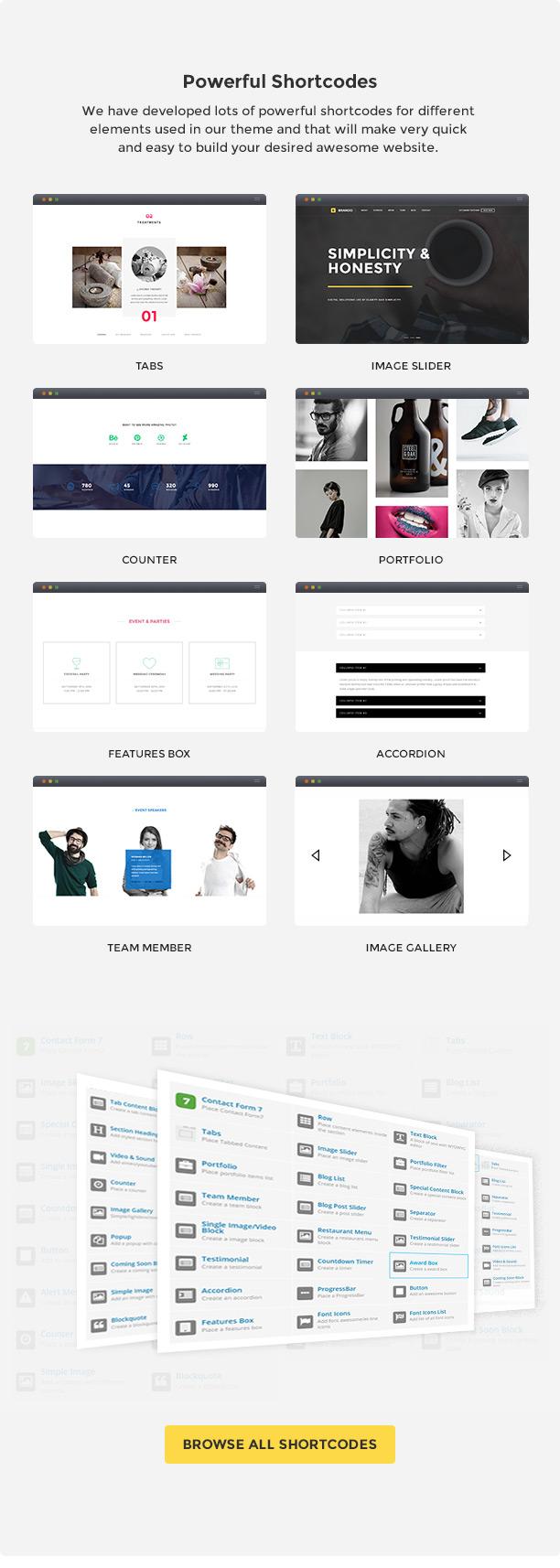 Brando Responsive and Multipurpose OnePage WordPress Theme - 18