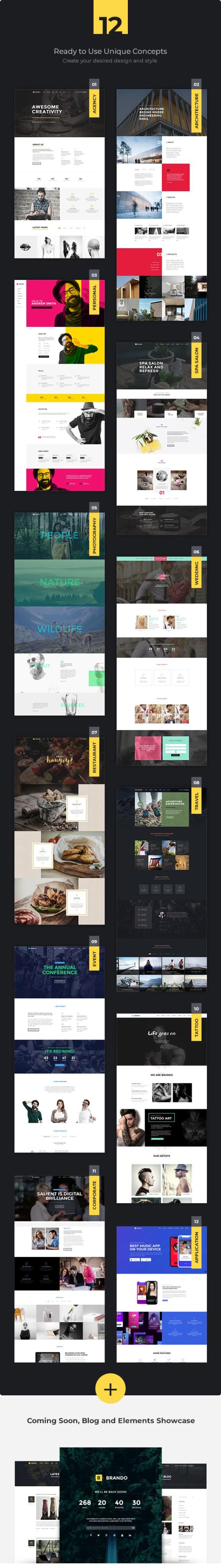 Brando Responsive and Multipurpose OnePage WordPress Theme - 8