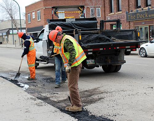 Image result for filling potholes