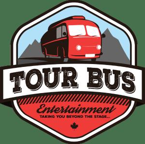 Tour Bus Entertainment logo, a patch design with bus illustration