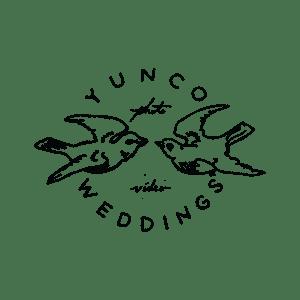 Yunco Weddings logo with two Yunco birds