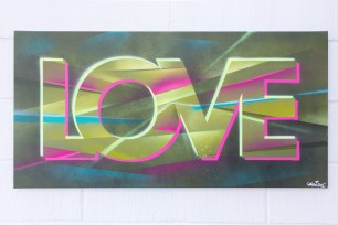 Painted Love: Underground Funk, 2015. 100 x 50 cm. Spray paint and acrylic on canvas.