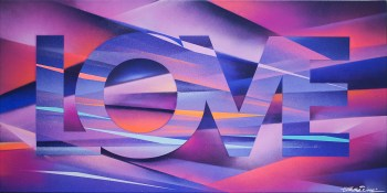 Painted Love: The Storm, 2016. 100 x 50 cm. Spray paint on canvas
