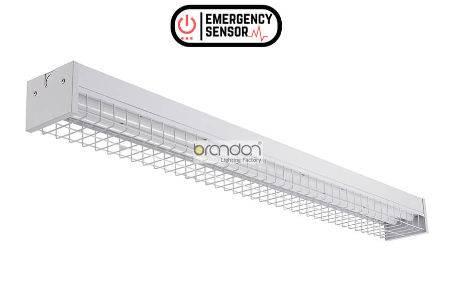 """2-Pack 4/"""" Opening 4ft Wireguard Protector for Fluorescent Light Fixtures"""