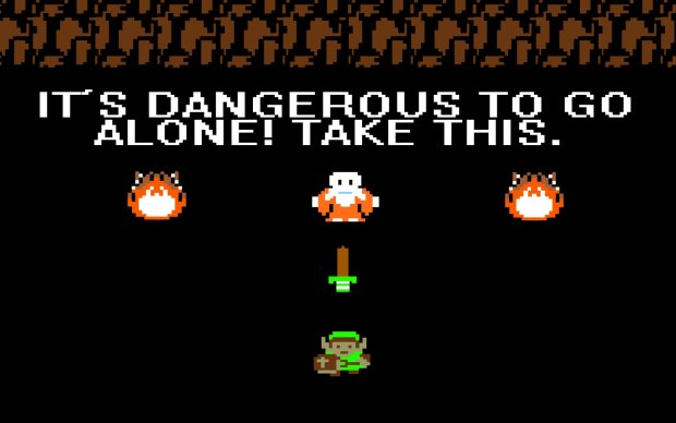 Zelda dangerous to go alone