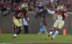 Robert Aguayo and Okeme Elige kickoff in the 2nd half