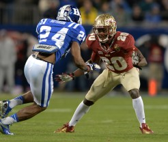 Lamarcus Joyner takes on a Duke blocker