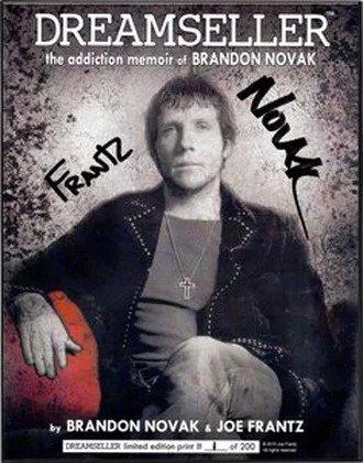 "Limited Edition Brandon Novak / Joe Frantz 8"" x 10"" Framed Glossy Photo B+W"