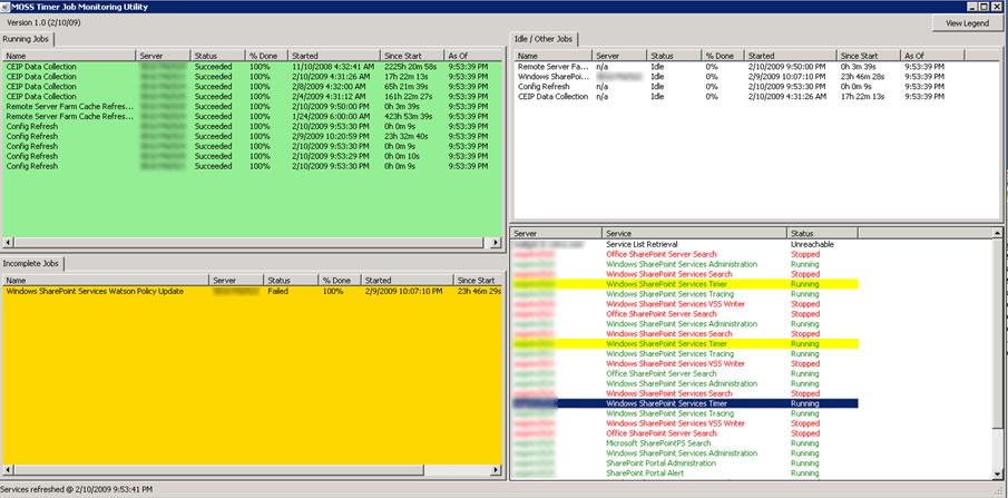 Timer Job Monitoring/Dashboard Utility