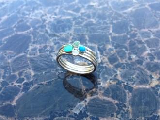 Stone Stackers - Green Onyx Doublet, Turquoise, Aventurine, Moonstone