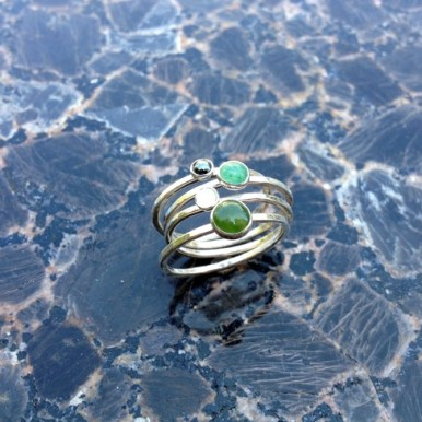 Stone Stackers - Jade, Aventurine, Moonstone, Onyx