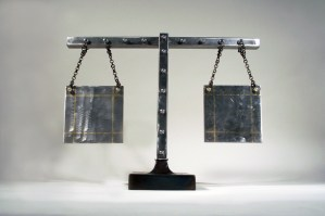 sculpture_balance_scales_welded_steel_brass_inlay
