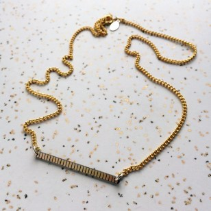 RAM_computer_hardware_necklace_gold_plated_silver