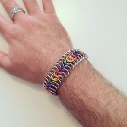 Rainbow Stretchy Chainmaille Bracelet