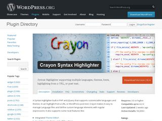 Crayon Syntax Highlighter — WordPress Plugins