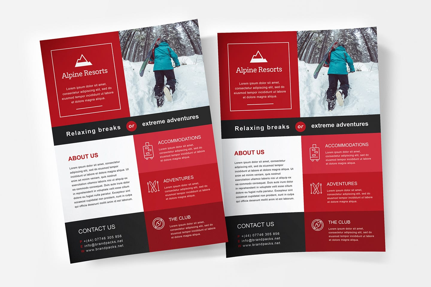 free a4 poster template psd ai