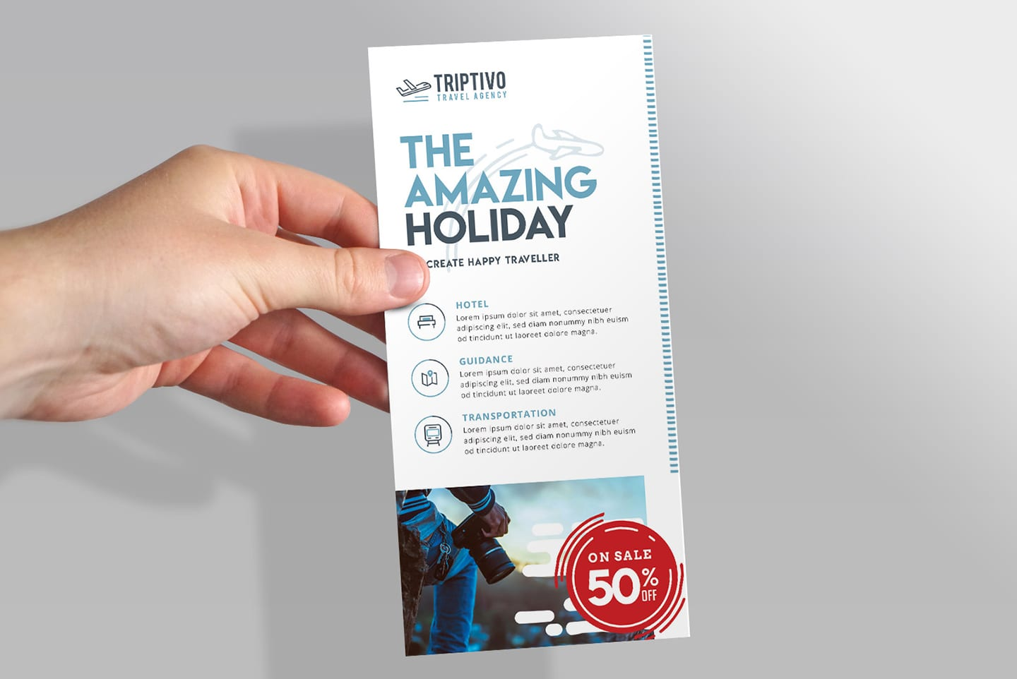 Free Dl Rack Card Template Mockup Psd For Photoshop