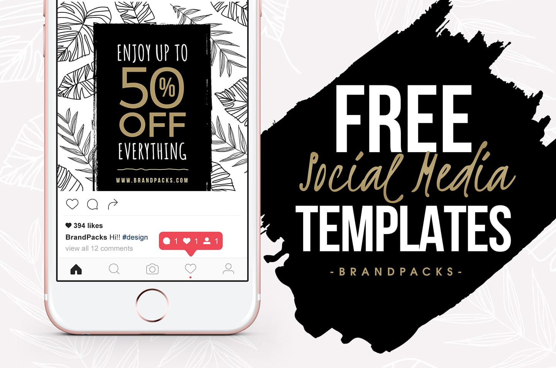 Free Social Media Templates Pack For Photoshop Illustrator