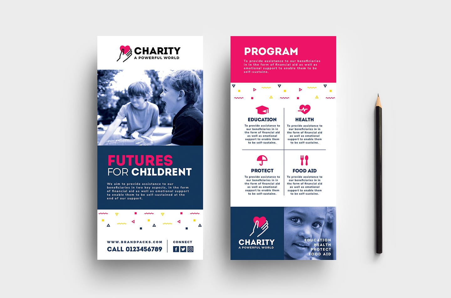 Free Charity Rack Card Template For Photoshop Illustrator