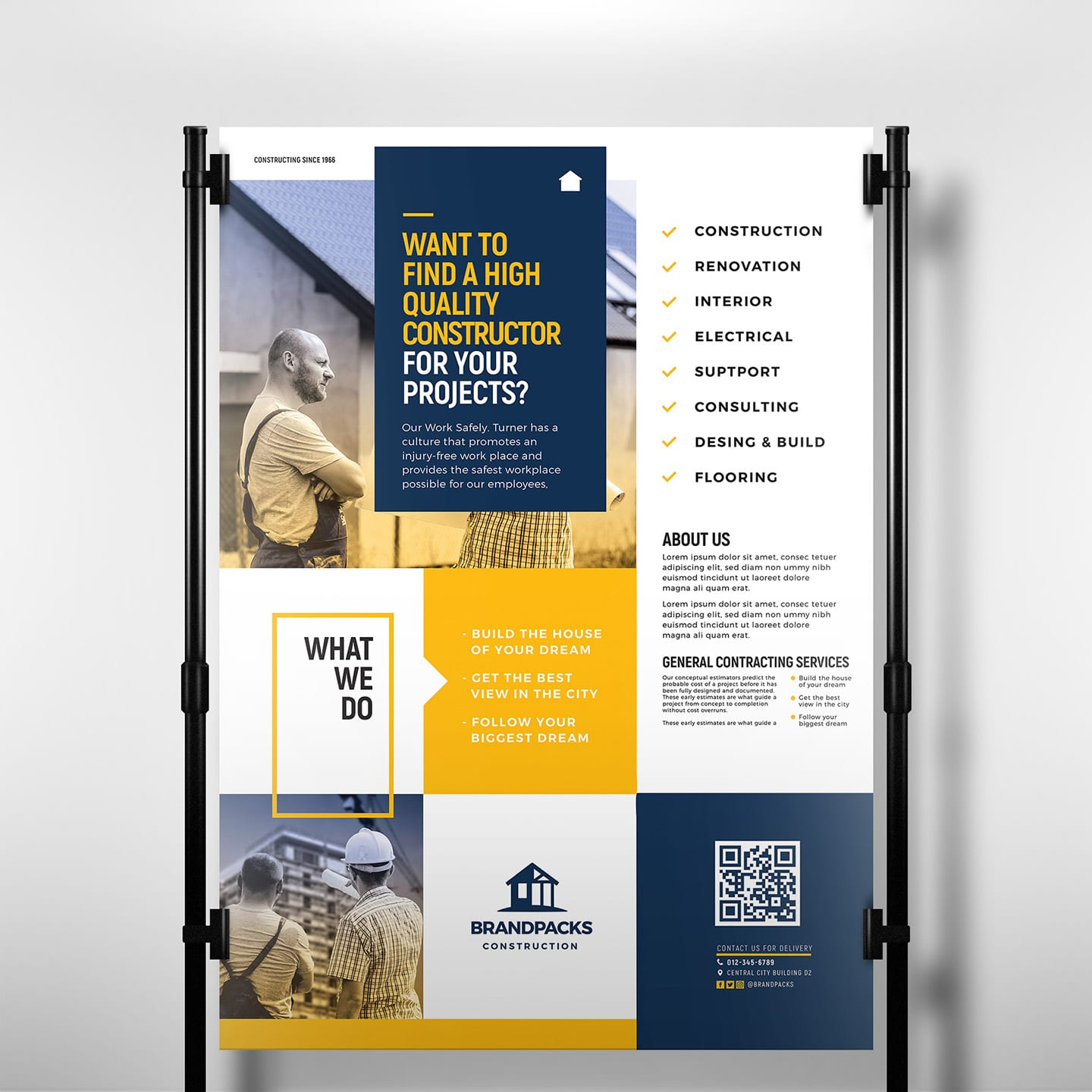 Construction Company Poster Template In Psd Ai Amp Vector