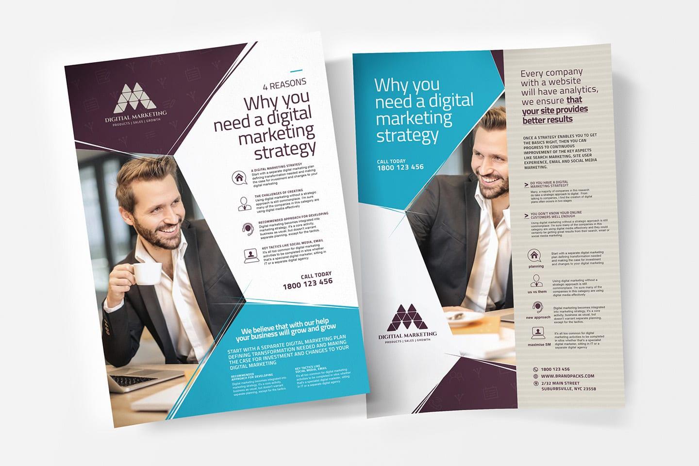 digital marketing a4 poster