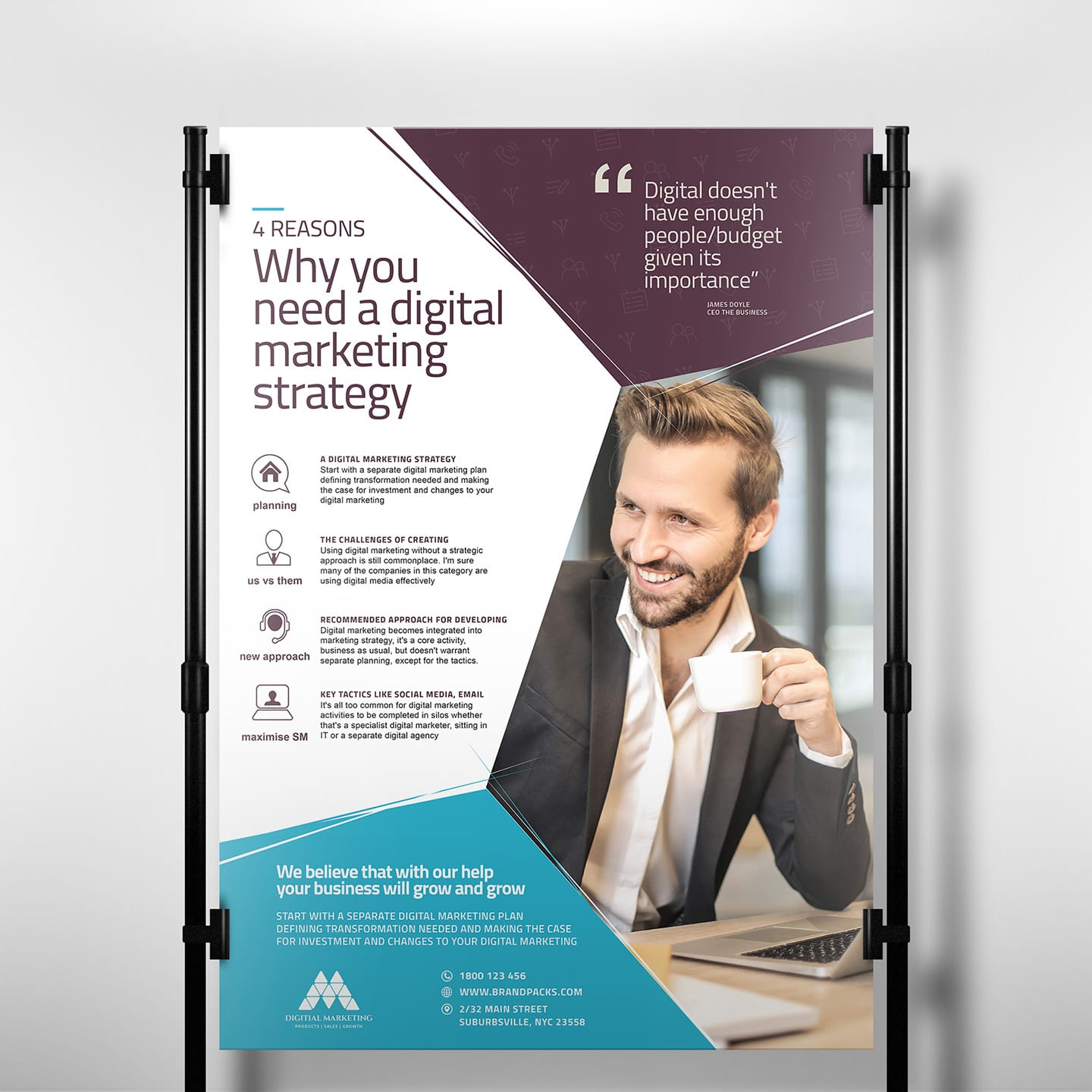 Digital Marketing Poster Template In Psd Ai Vector