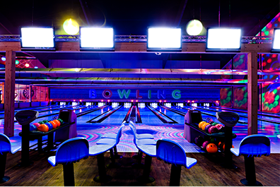 Entertainment - Photo of a bowling alley lane
