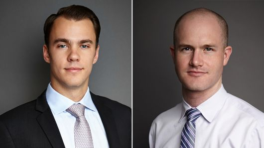 Fred Ehrsam and Brain Armstrong, Founders Coinbase