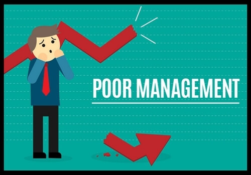 Poor Management Team- Why Startups fail