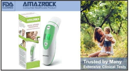FDA Approved - Amazrock Dual Mode Thermometer