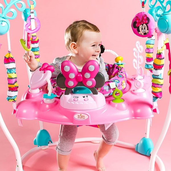 MINNIE MOUSE PeekABoo Activity Jumper - Baby in Seater