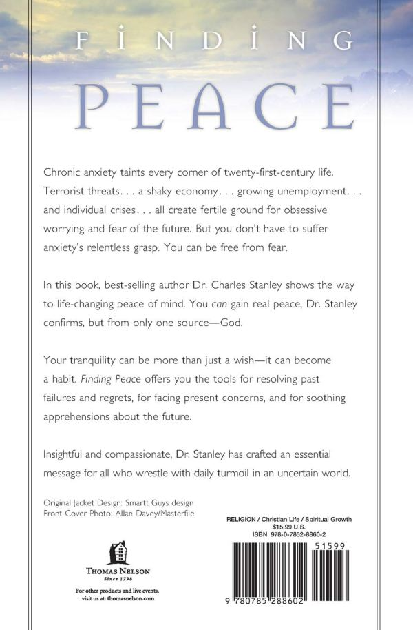 Finding Peace- God's Promise of a Life Free from Regret, Anxiety, and Fear (back)