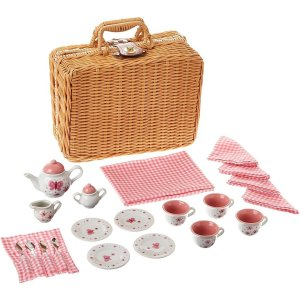 Butterfly Tea Set Basket