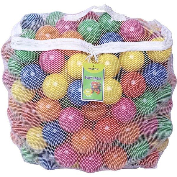 Click N' Play Pack of 200 Phthalate Free BPA Free Crush Proof Plastic Ball