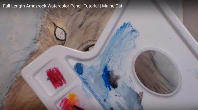 Amazrock Watercolor Tutorial | Save Pencil Lead for Palette