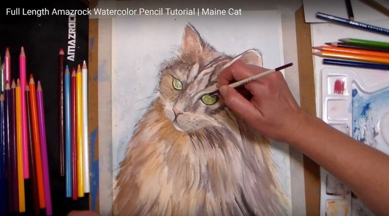Amazrock Watercolor Tutorial | Wet on Dry Drawing Technique