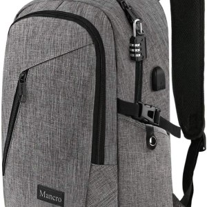 Mancro Laptop Backpack, Business Water Resistant Laptops