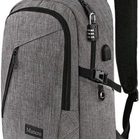 Mancro Laptop Backpack | Anti Theft Durable Travel Backpacks – Water Resistant