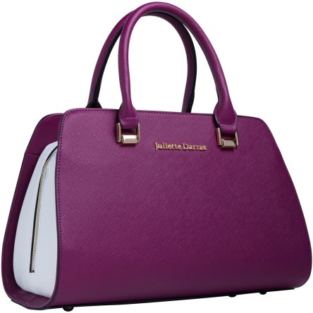 Juliette Darras Insulated Lunch Bag for Women – Elegant, Multifunctional Lunch Tote Purse for Women (Fuchsia)