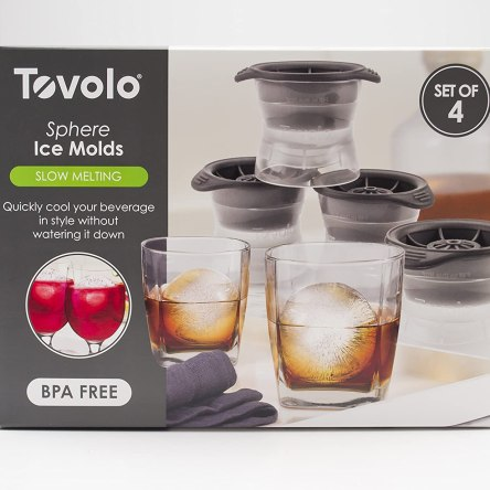 Tovolo Sphere Ice Molds – Set of 4