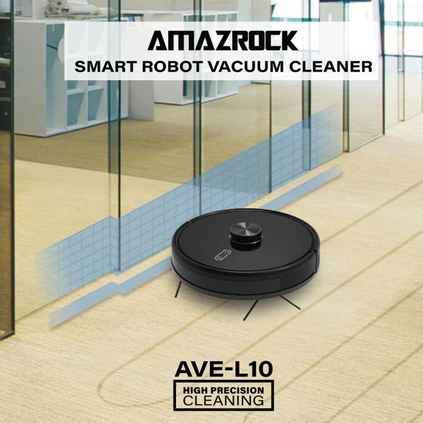 Amazrock AVE-L10 Smart Robot Vacuum (Laser Guided Navigation)
