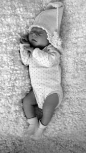Baby alpe hue i alpaka uld
