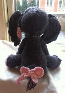 amigurumi hæklet elefant