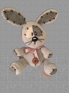 amigurumi kanin hæklet kanin