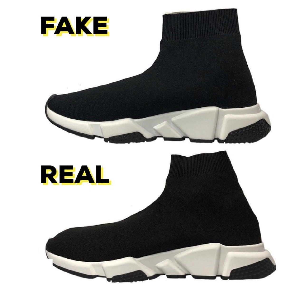 82635ee195e Balenciaga Speed Trainer Source · How To Spot Fake Balenciaga Speed Trainers  Brands Blogger