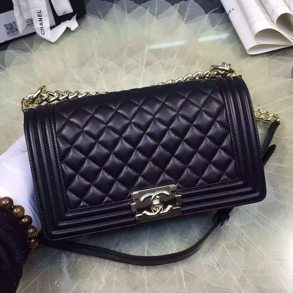66abafb447a0c6 How To Spot A Fake Chanel Boy Bag - Brands Blogger