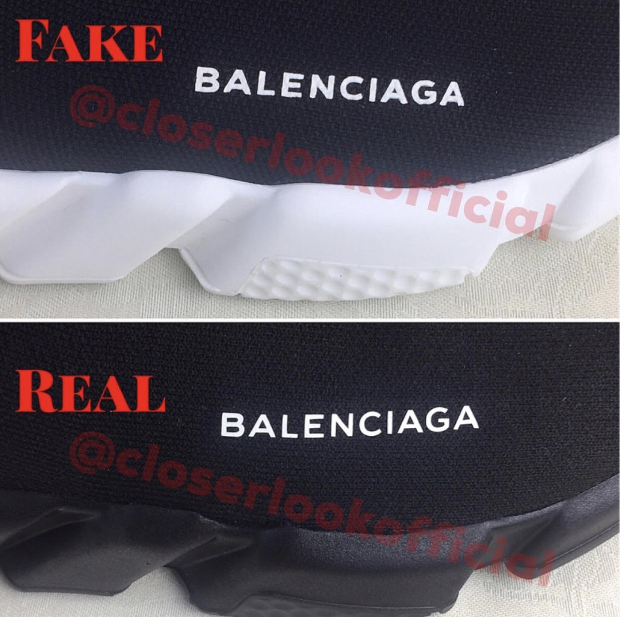 77b4521983ab How To Spot Fake Balenciaga Speed Trainers - Brands Blogger
